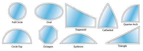 Specialty custom architectural shaped windows window for Window shapes and designs
